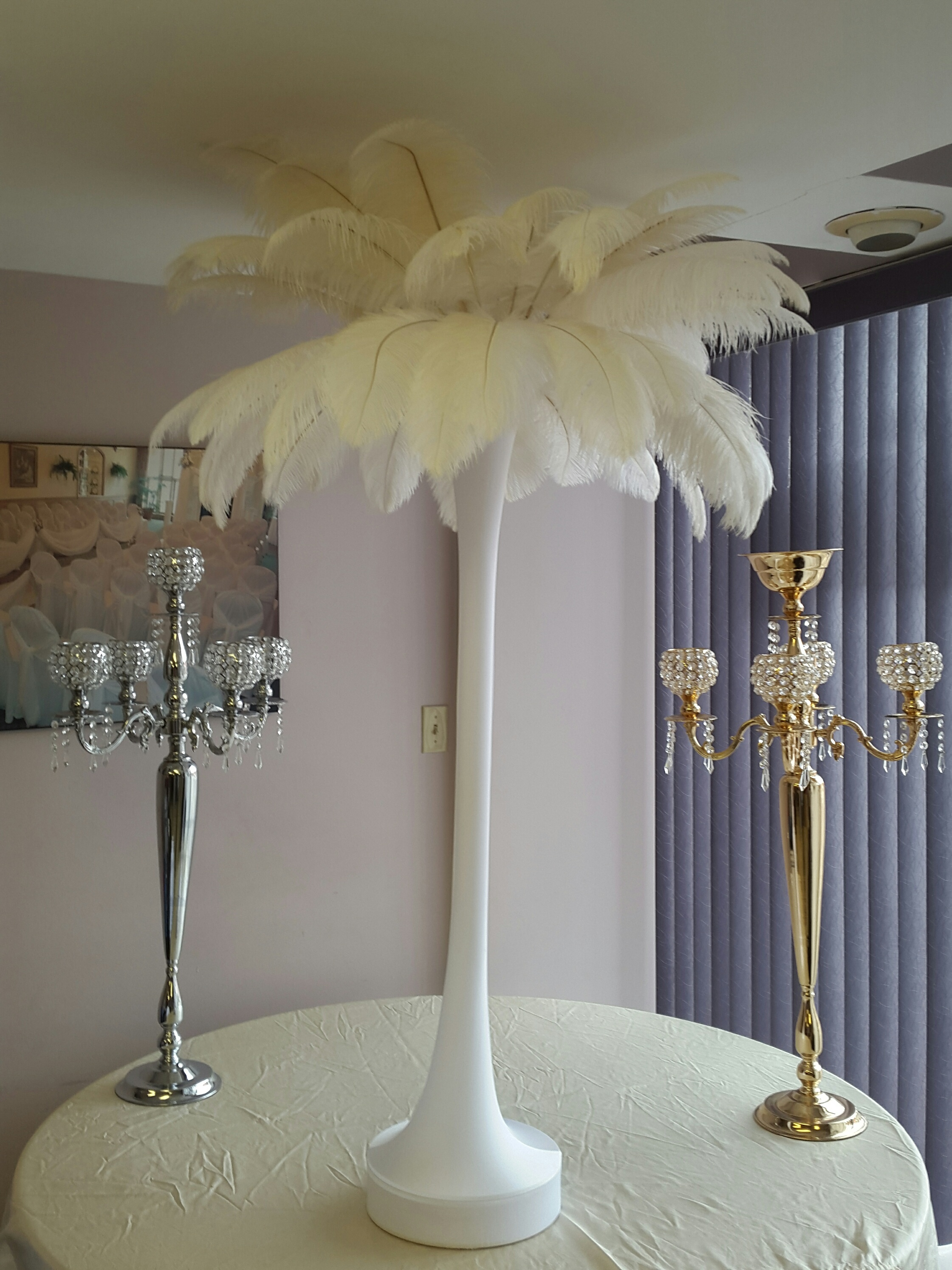 The feather guy wholesale ostrich feathers cheap toronto 48 tower 3 base 50pcs of 16 18 feathers total height 65 30 feather arrangement reviewsmspy